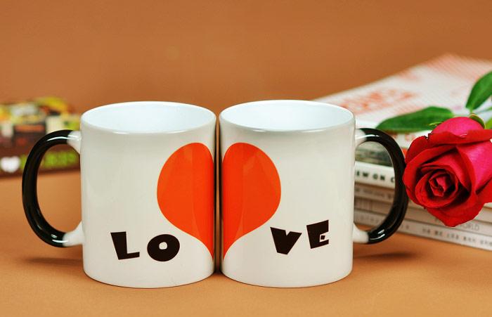 供应六安马克杯定制,六安礼品马克杯印照片定制,六安陶瓷变色杯子图片