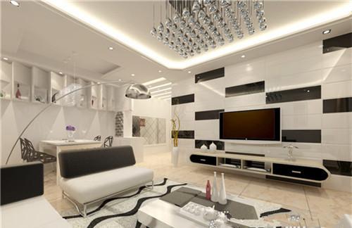 常州奥邦高端设计 2016小户型现代简约客厅电视背景墙    奥邦装潢,精