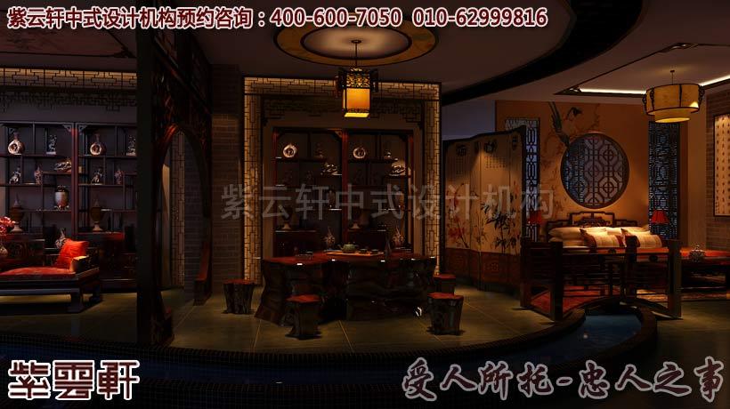 公装设计 红木家具体验馆中式装修风格案例欣赏
