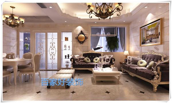 【明珠国际城】130平米欧式风格效果图