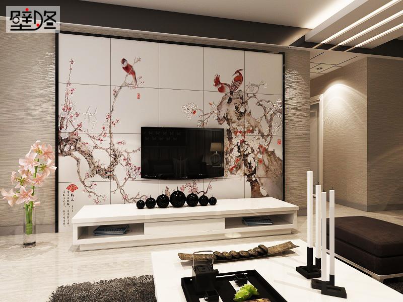 2016最新新中式客厅电视背景墙装修设计效果图,美到窒息高清图片