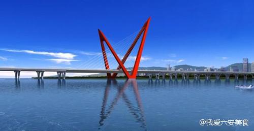 寿春路桥 建设忙 建成后将减轻目前新安大桥的通行