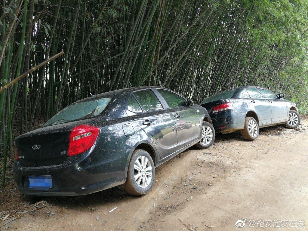 这里不是秋名山!六安两轿车过弯时发生漂移侧滑至路边竹林